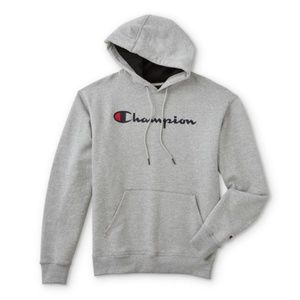 ISO grey champion hoodie (NEW)
